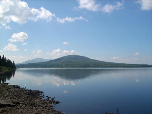 поселок Зюраткуль - гора Лукаш   Зюраткуль